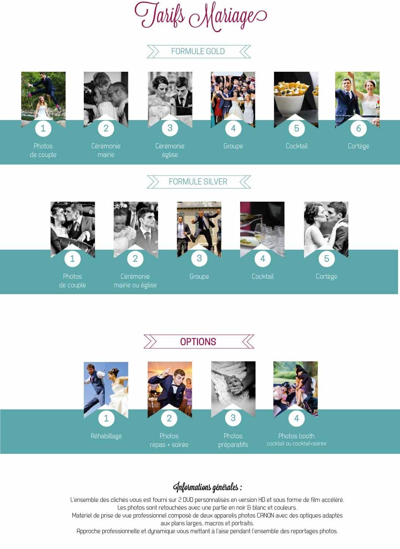 Les tarifs de vos photographes de mariage